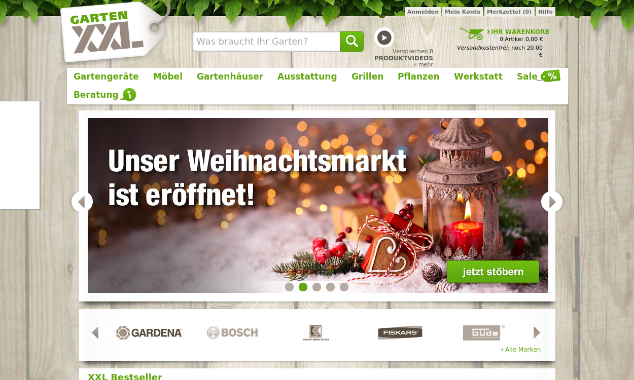 Gartenxxl.de - Ihr Gartenfachmarkt im Internet