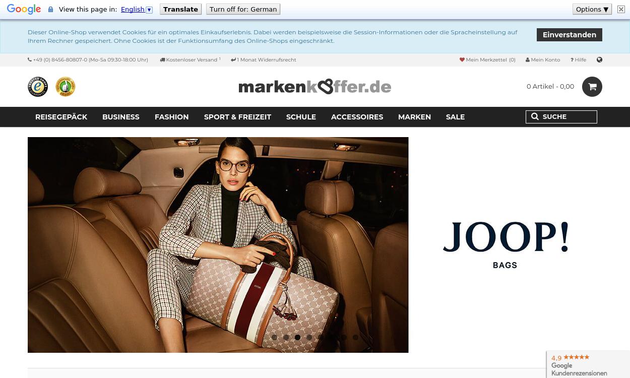 Markenkoffer DE