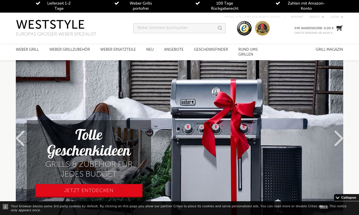 weststyle - Weber Grill ® Online-Shop by WESTSTYLE