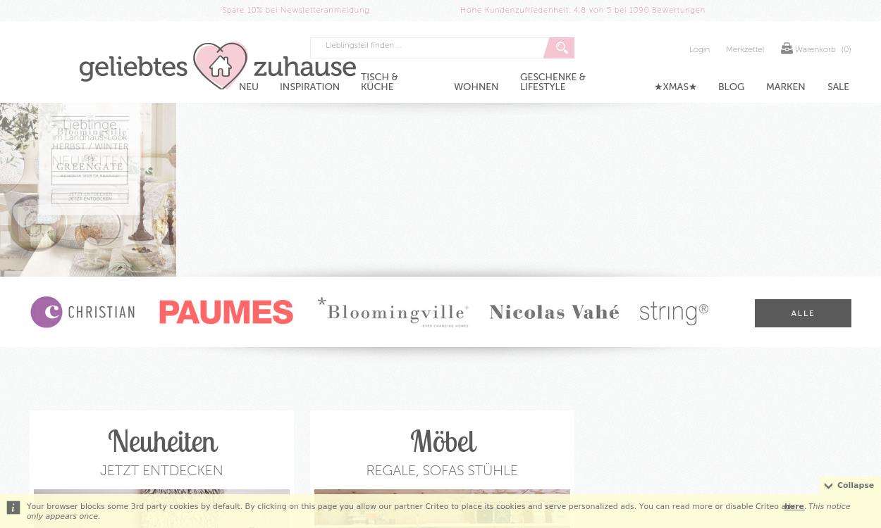 Geliebtes Zuhause.de - Wohnaccessoires Shop