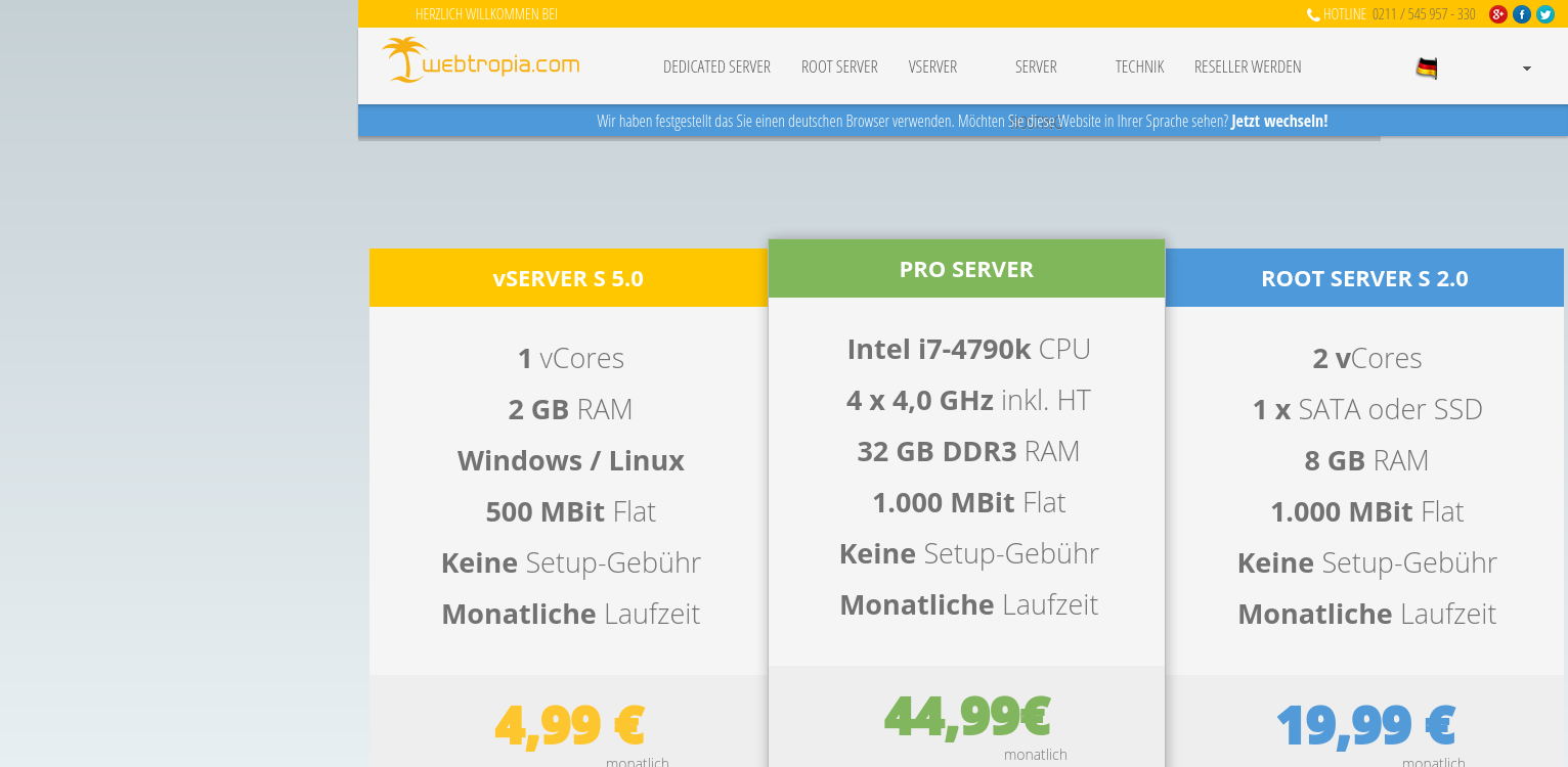 webtropia.com - vServer und dedicated Root-Server