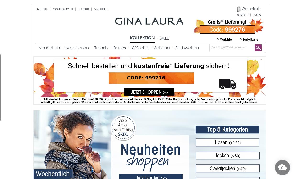 Gina Laura Online-Shop - Mein Stil - Meine Welt.
