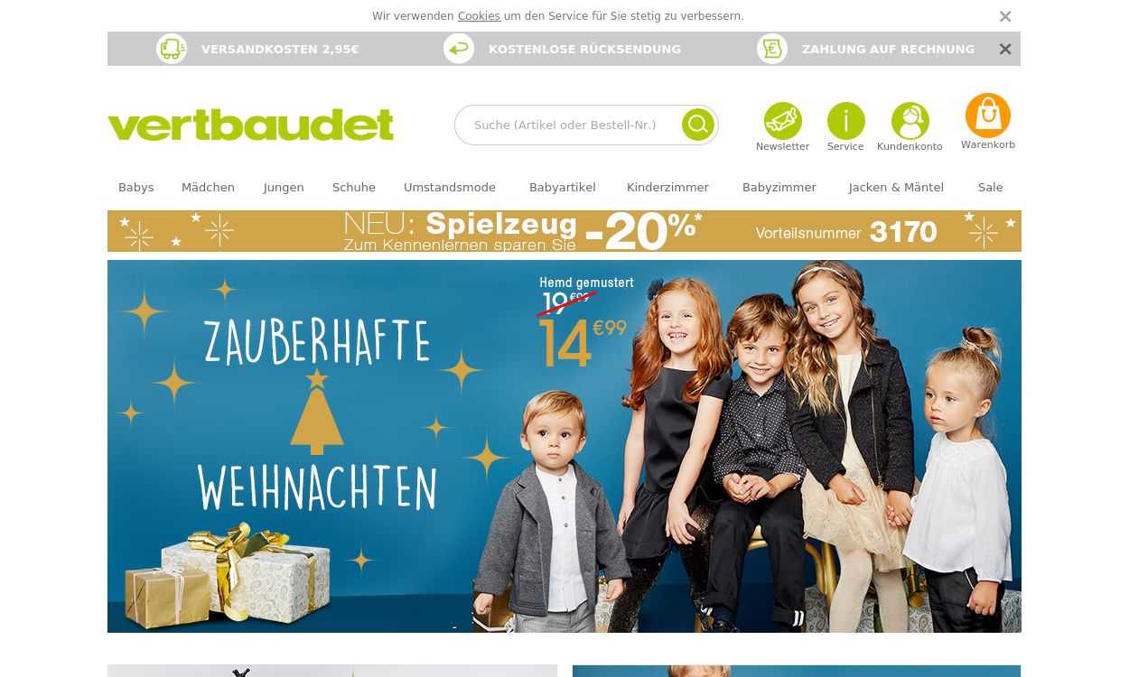 Vertbaudet.de - Kinder-, Baby- und Umstandsmode