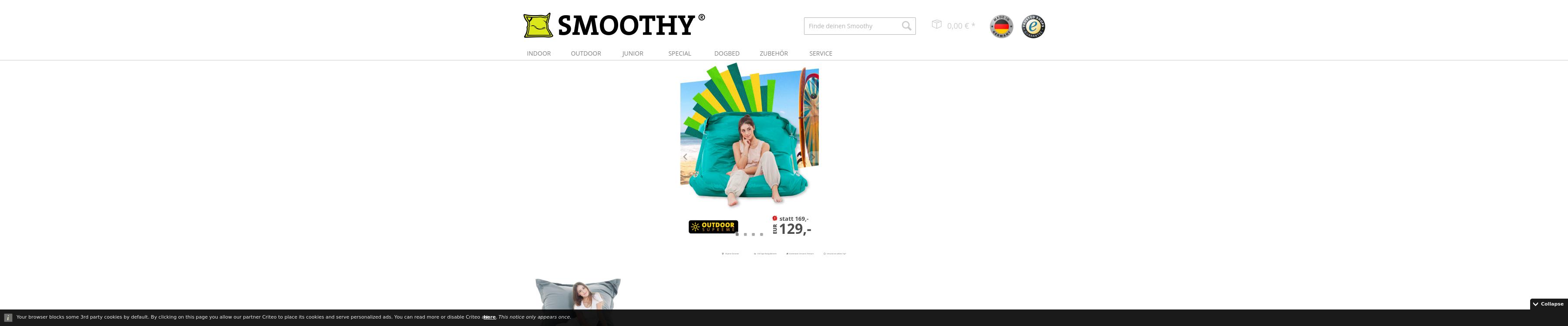 smoothy.de - Sitzsäcke und Sitzkissen