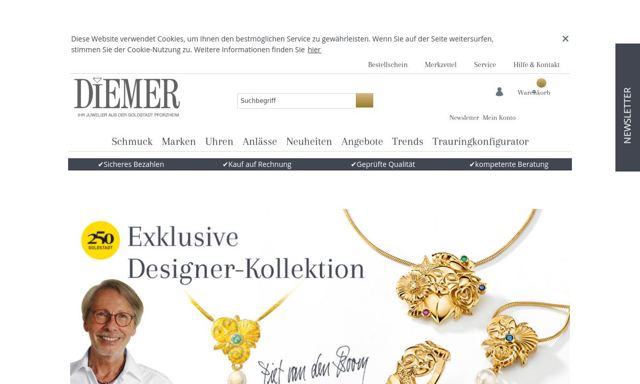 Diemer.de - Ihr Juwelier aus der Goldstadt