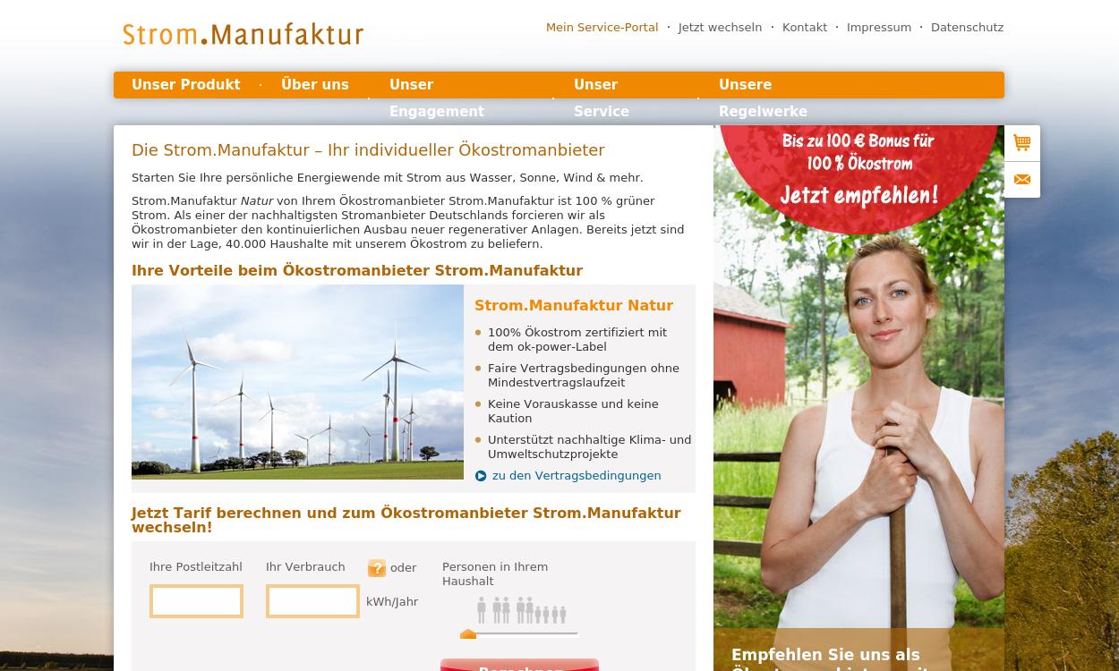 Strom.Manufaktur - Ihr Ökostrom-Anbieter