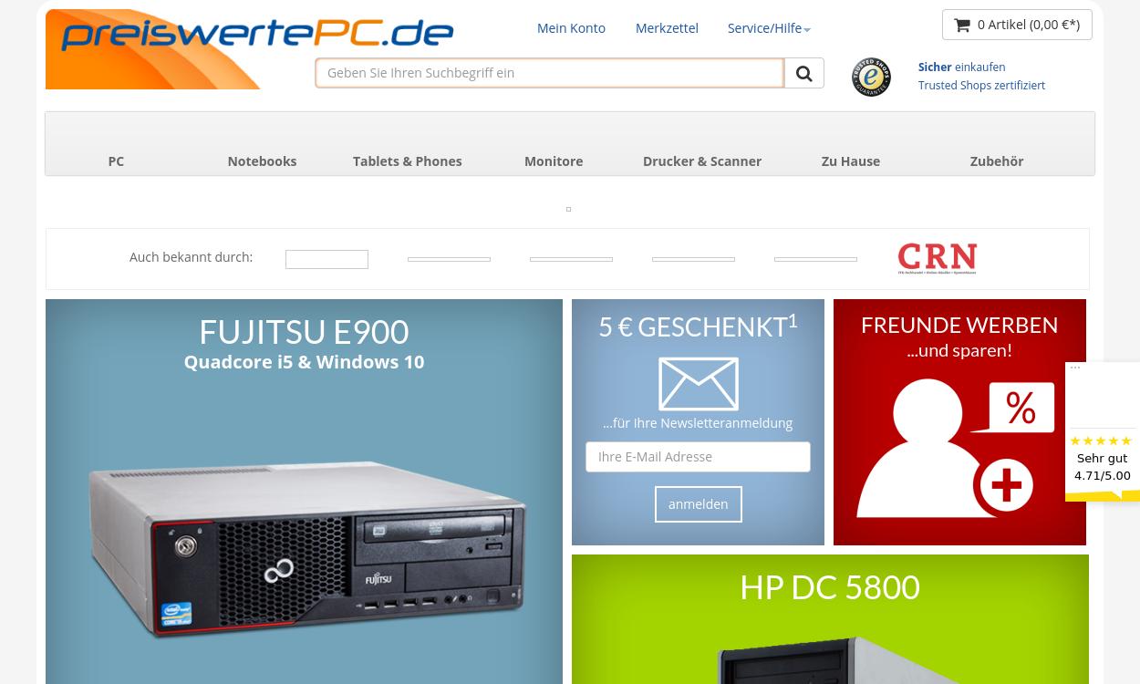 Preiswerte PC - gebraucht und gut