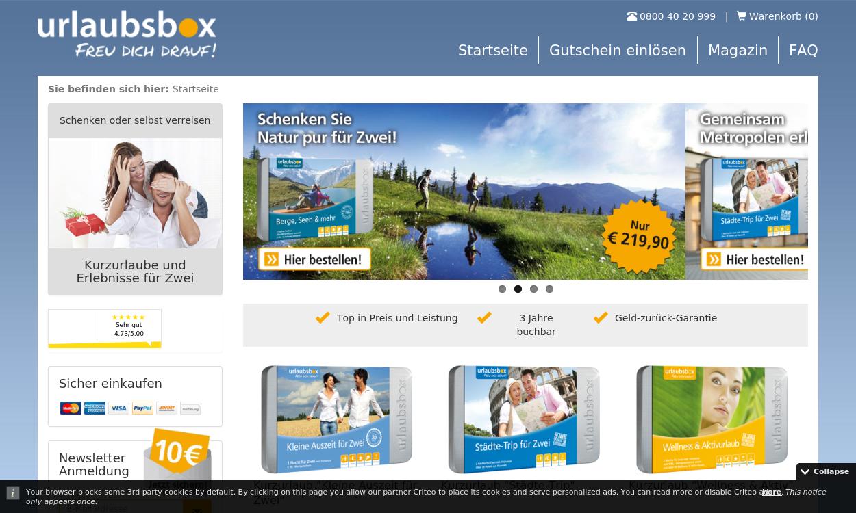 Urlaubsbox.com - Kurzurlaube, die glücklich machen