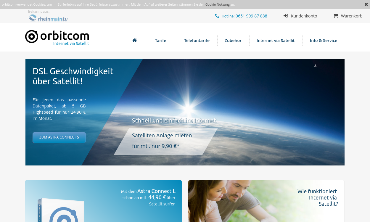 orbitcom.de - Internet via Satellit