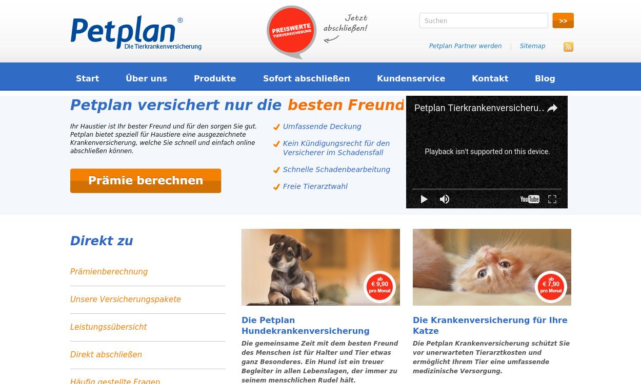 Petplan.de - Die Tierkrankenversicherung