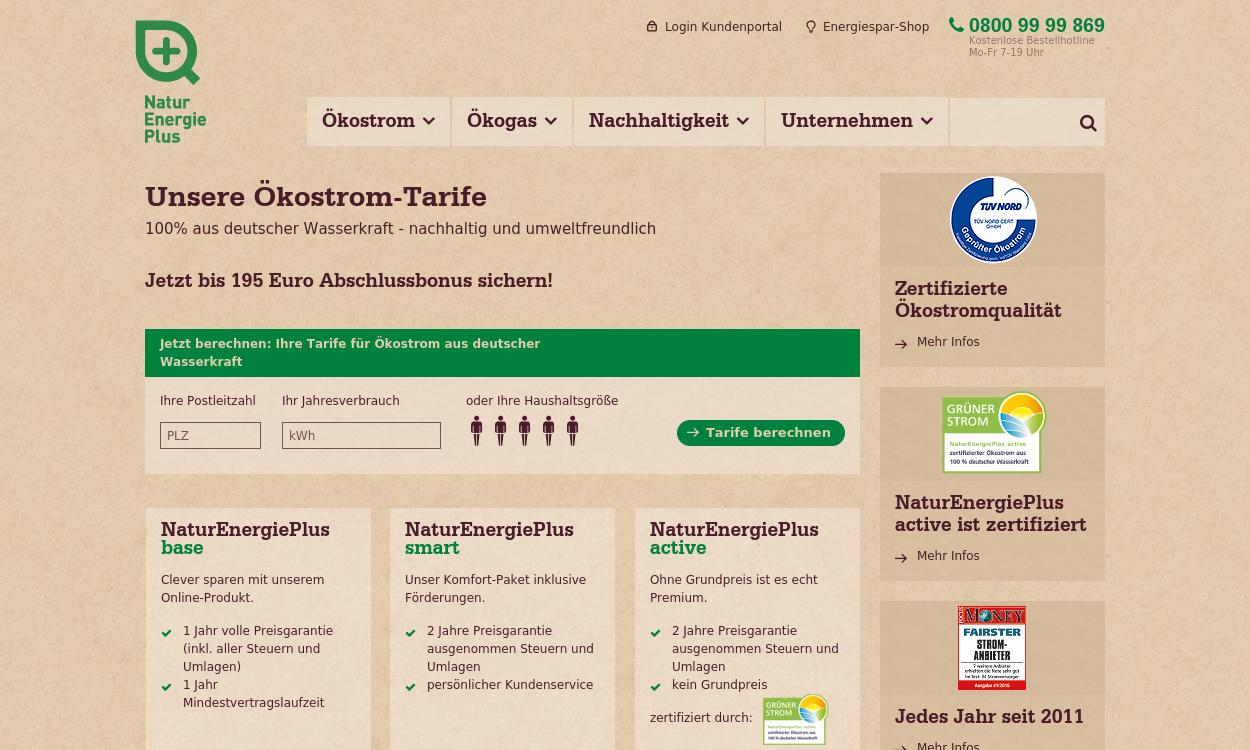 NaturEnergiePlus.de - 100% Ökostrom & Ökogas