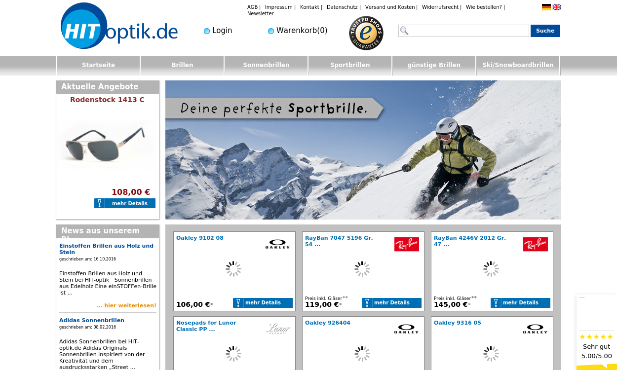 hit-optik.de: Brillen, Sonnenbrillen Online-Shop