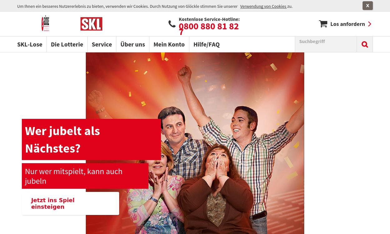 Lotterie spielen: Mit der SKL gewinnen