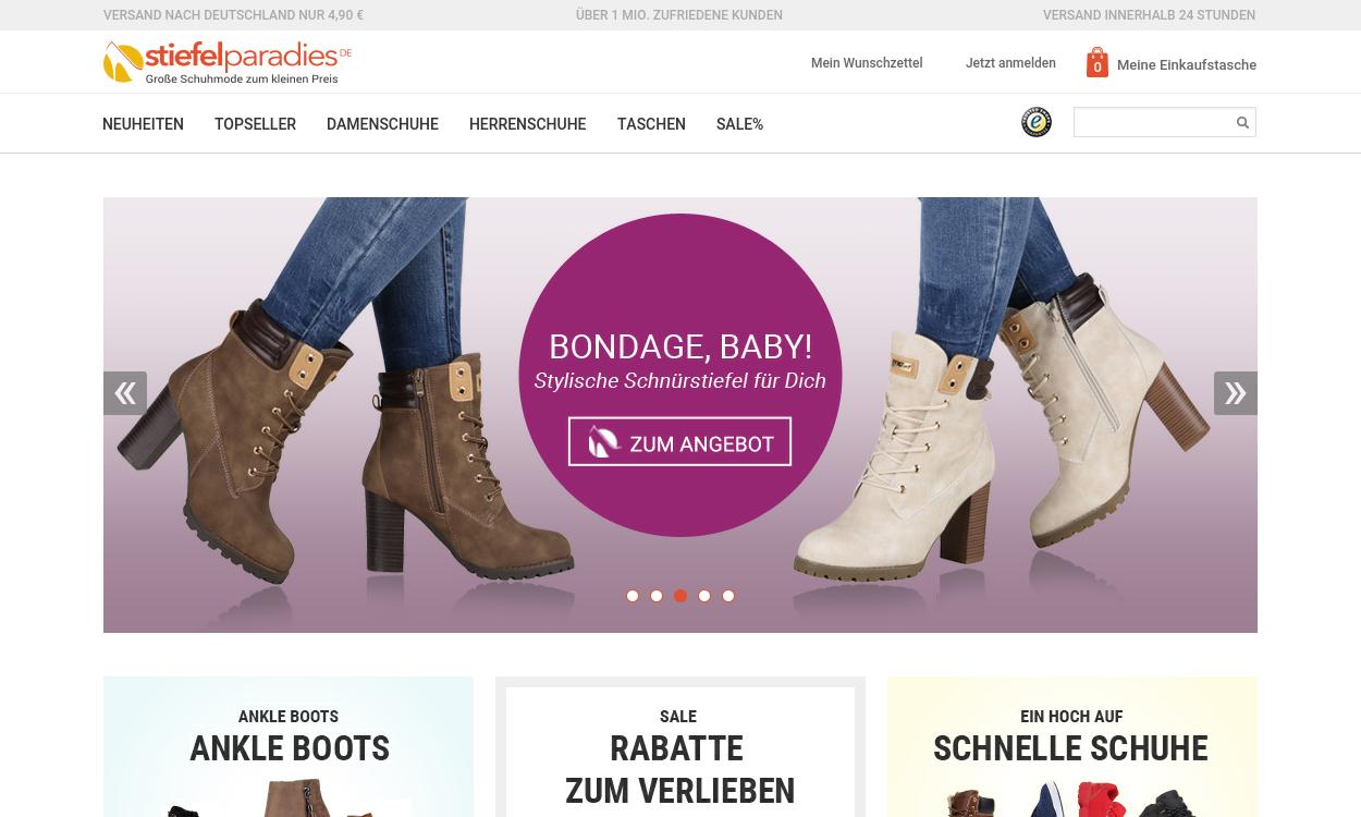 stiefelparadies.de - Schuhe günstig Shop