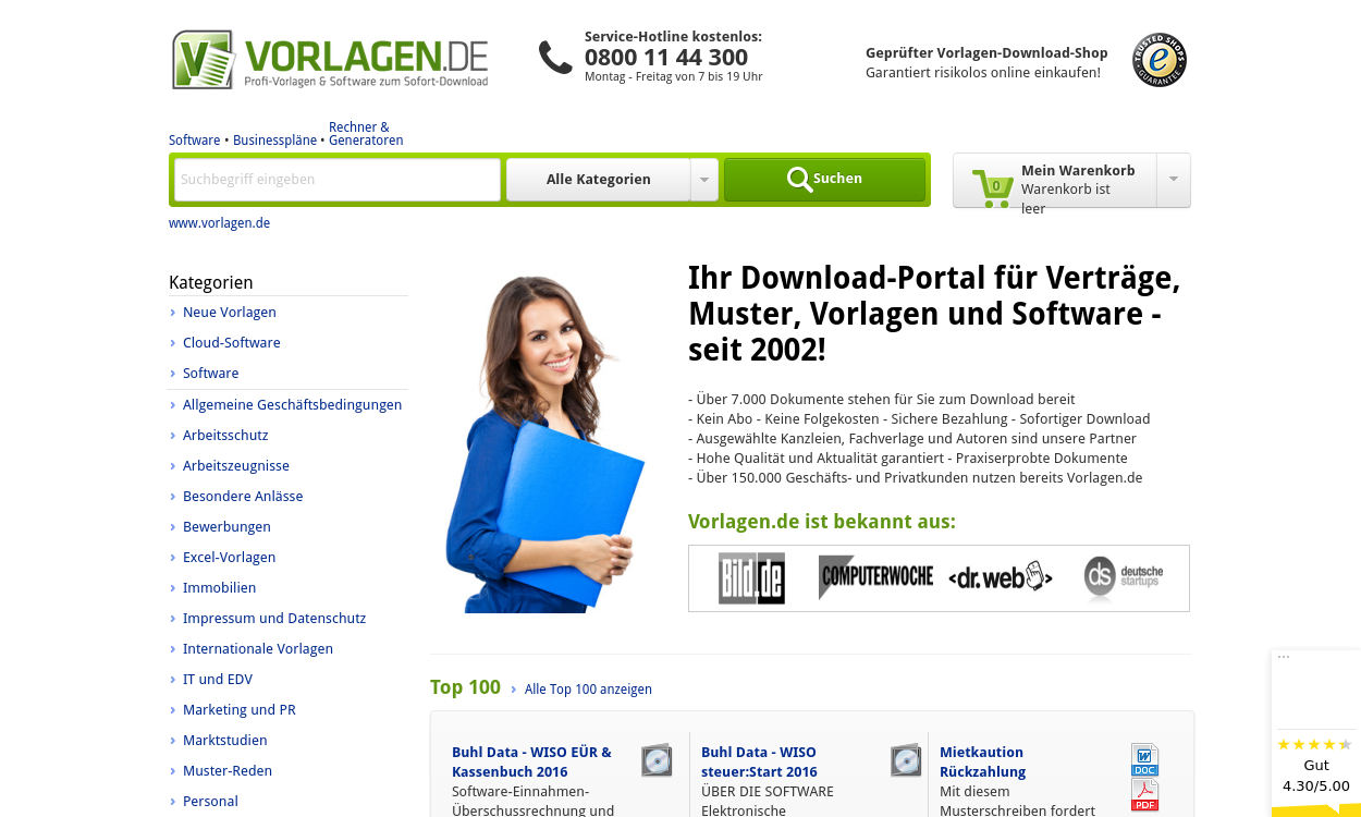 Vorlagen.de - Vorlagen & Excel-Tools zum Download!
