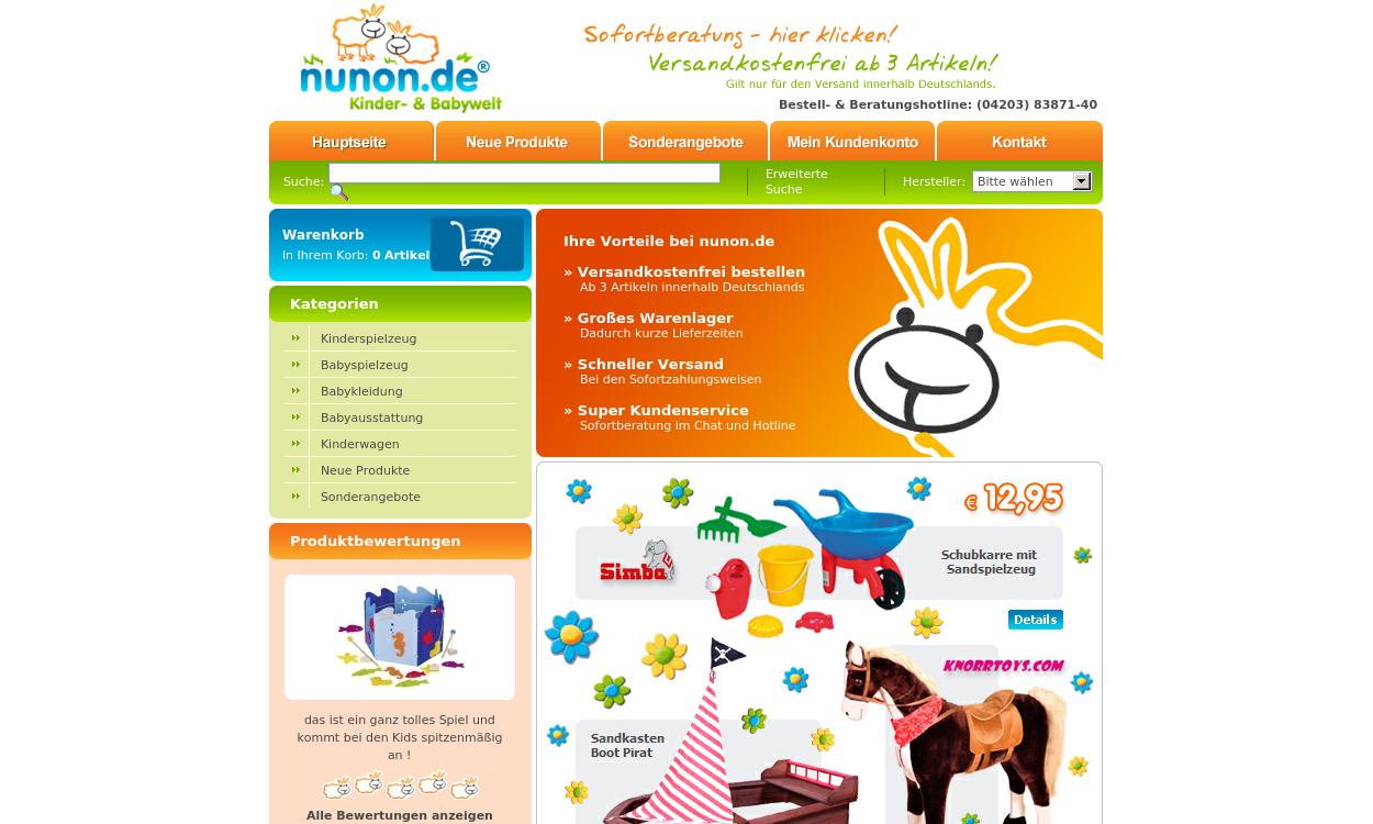 nunon.de: Kinder- und Babyspielzeug