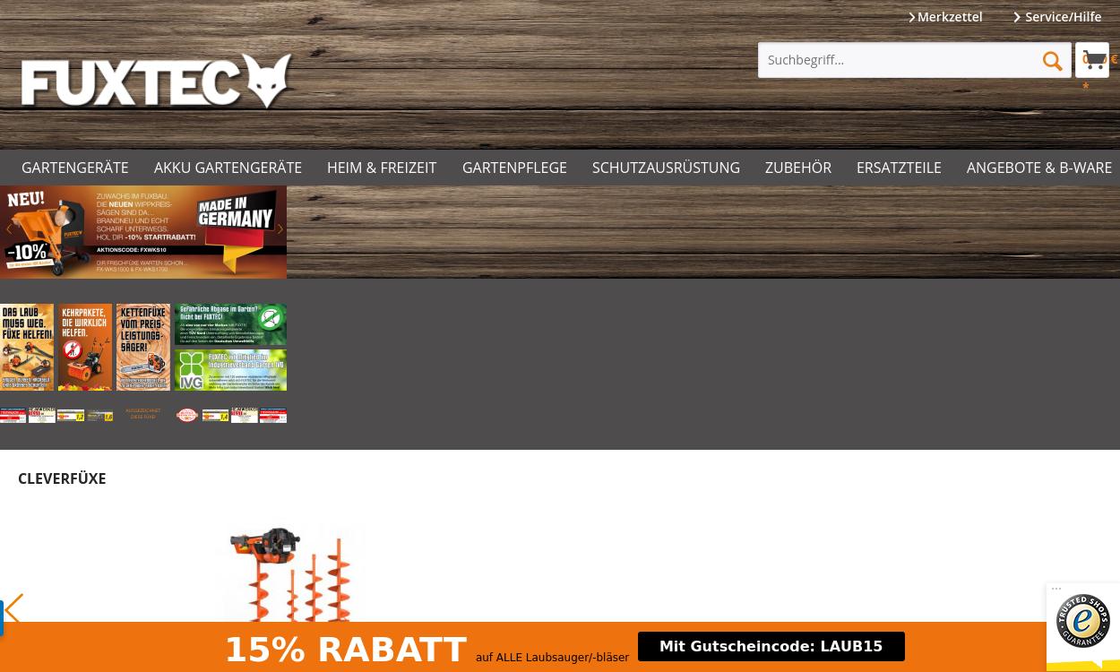 fuxtec.de - Fuxtec Gartengeräte online kaufen