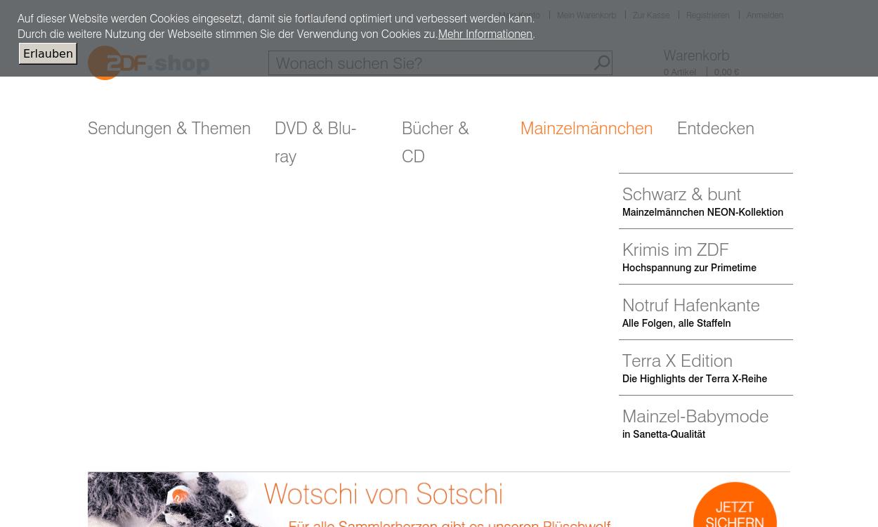 ZDF Shop - DVDs, Bücher, Mainzelmännchen uvm.