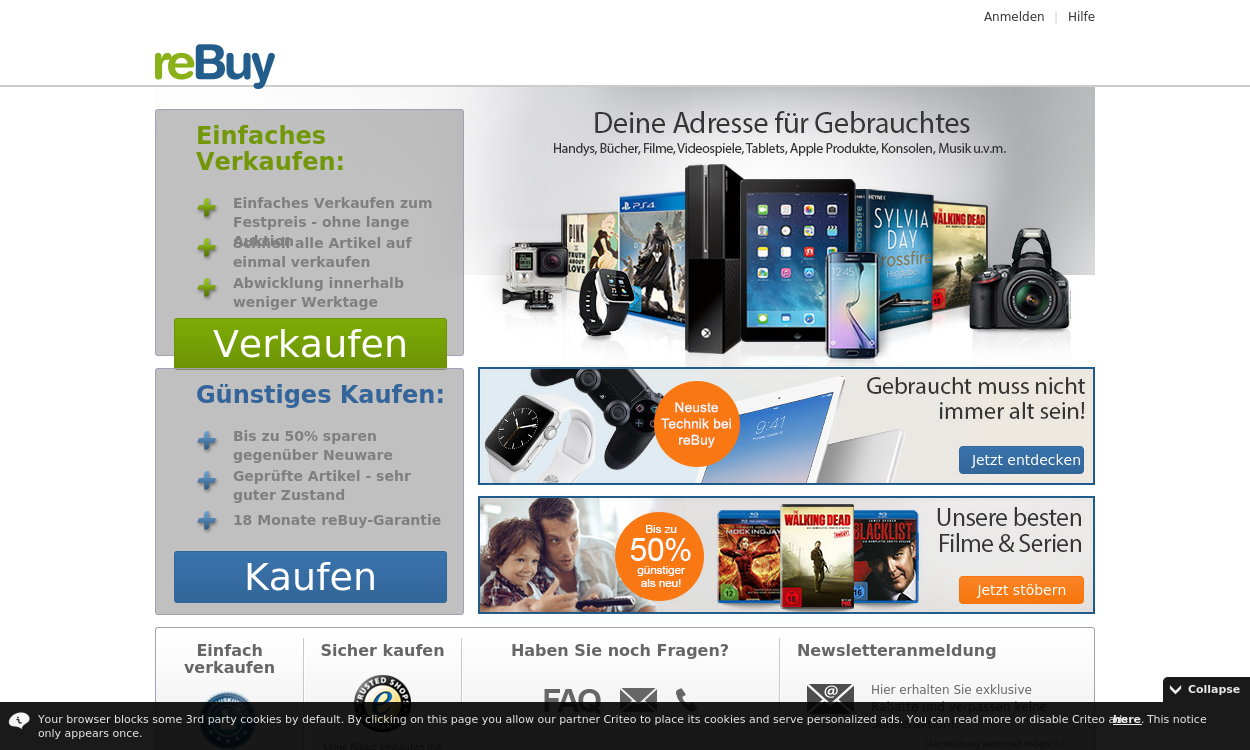 reBuy.de  - Der einfache An- und Verkaufshop