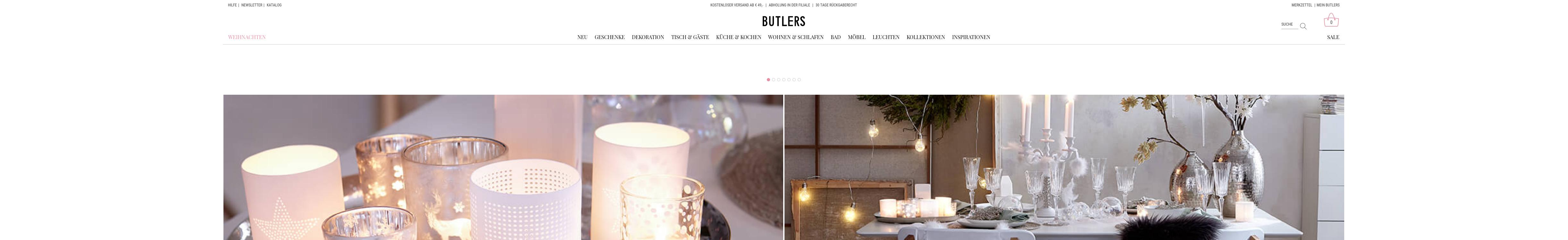 Butlers - Wohnaccessoirs und Dekoideen