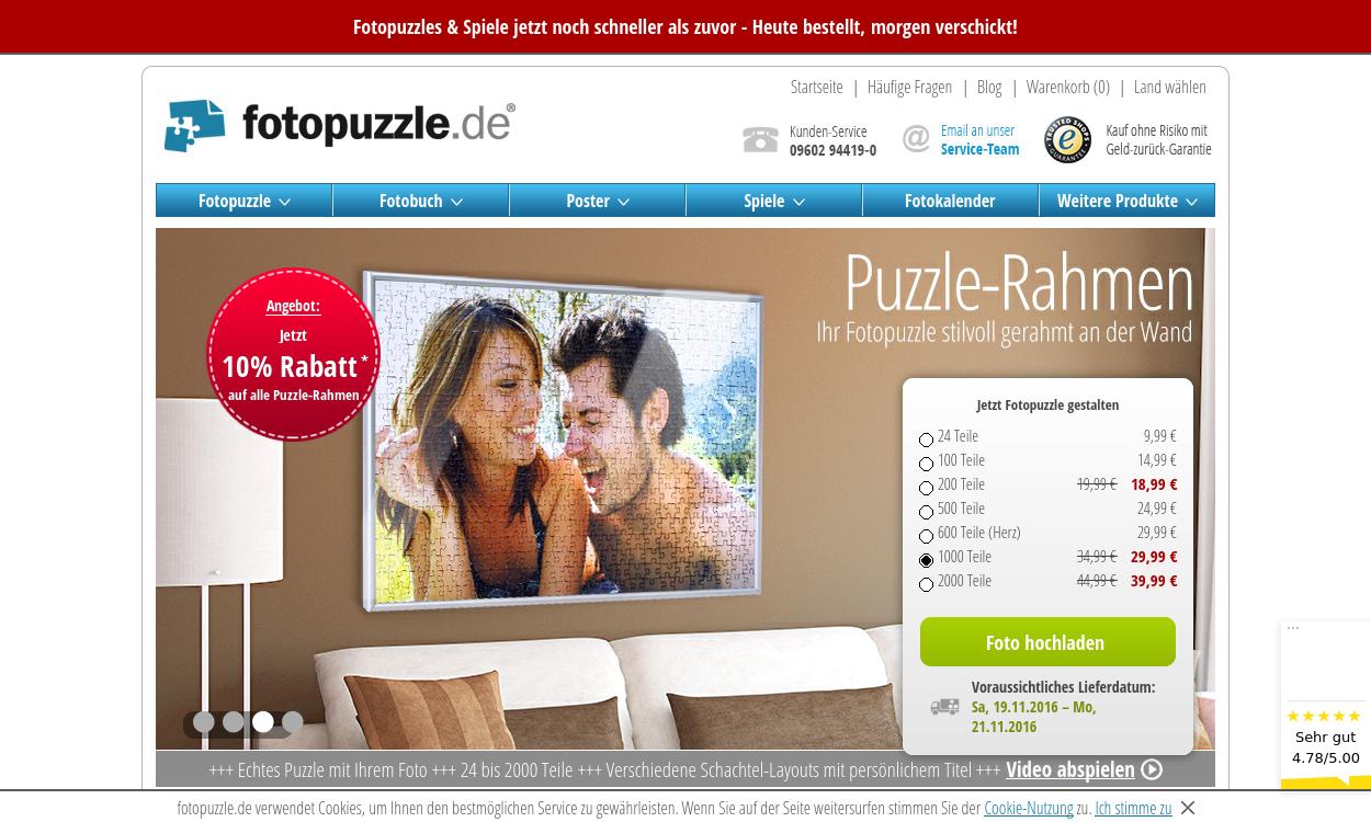 fotopuzzle.de – Fotopuzzles, Spiele und Geschenke