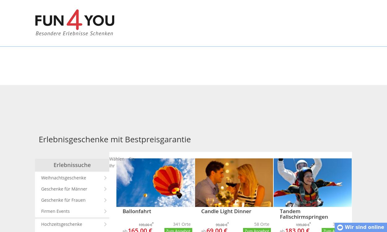 Fun4You.de - Erlebnisgeschenke
