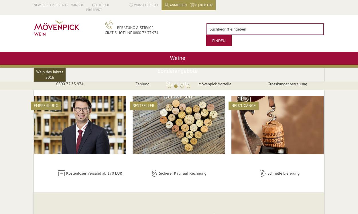 Moevenpick-wein.de - Online Shop & Weinkeller