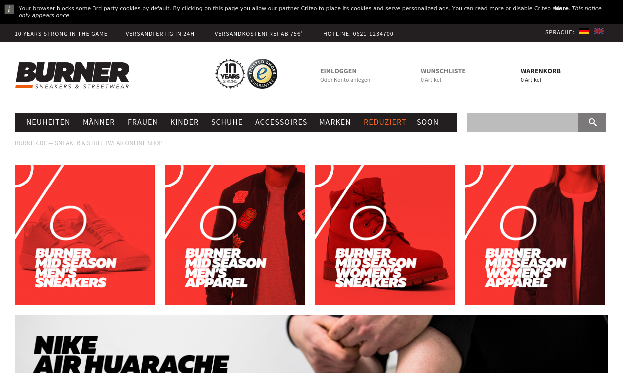 burner.de - Hip Hop und Streetwear online