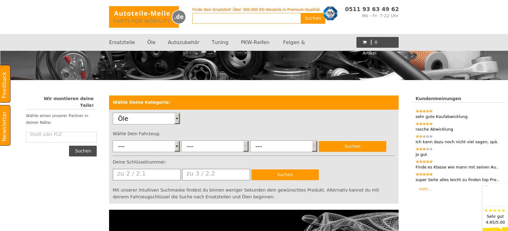 Autoteile-Meile.de - KFZ-Ersatzteile und Zubehör