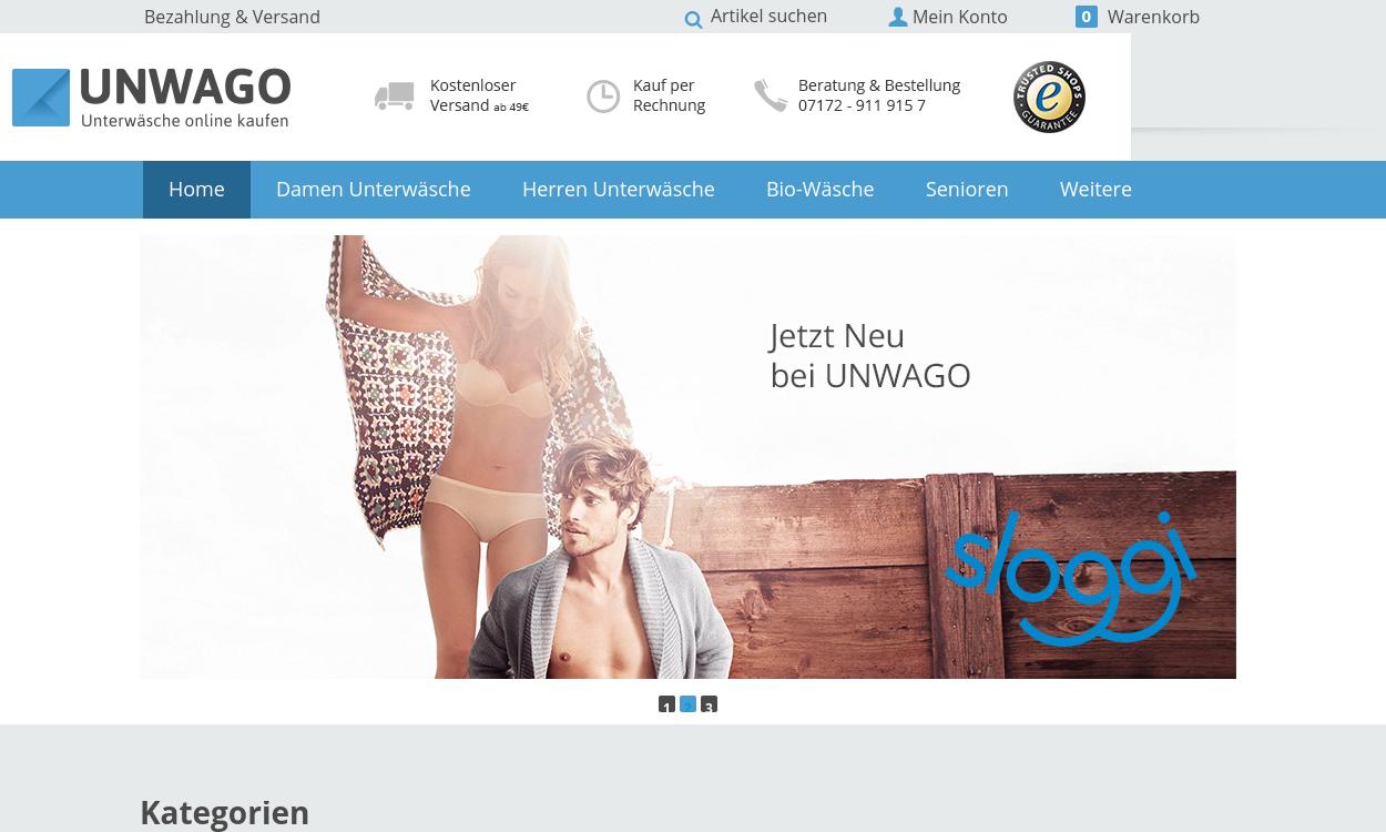 UNWAGO - Unterwäsche online kaufen