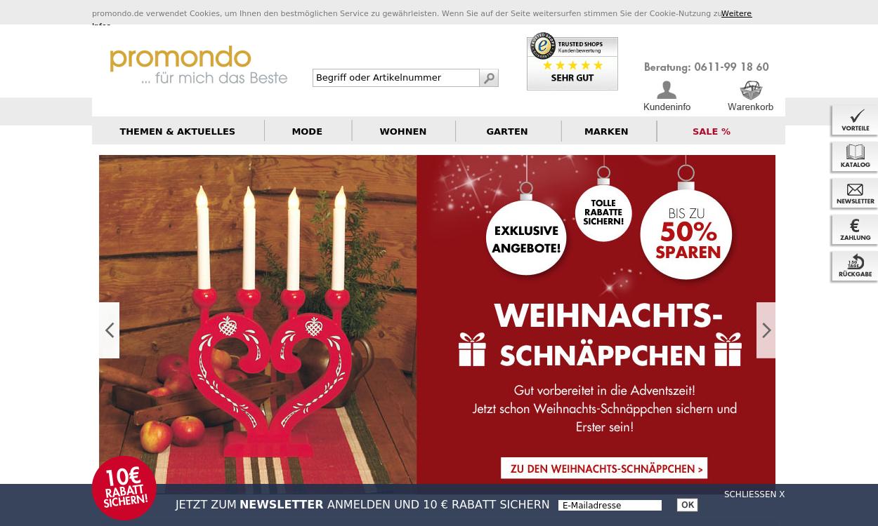 promondo: Exklusive Produkte - Mode, Wohnen&Garten
