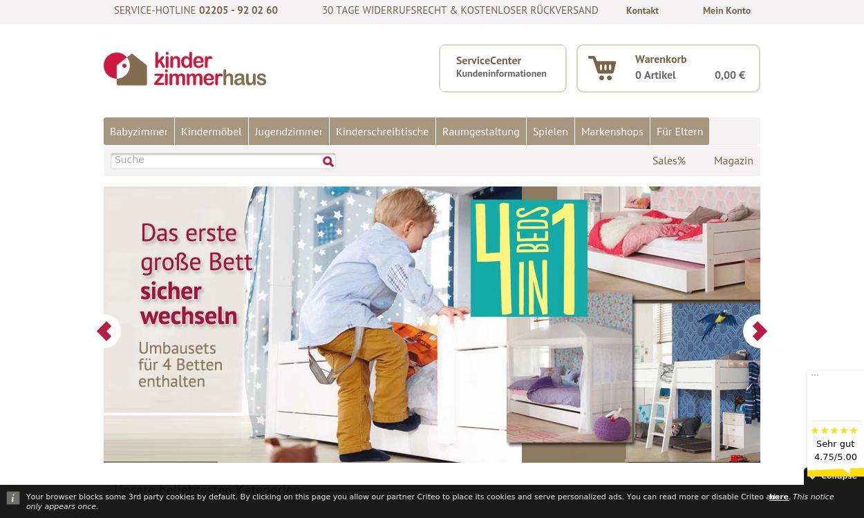 Kinderzimmerhaus - Die Kindermöbel Spezialisten