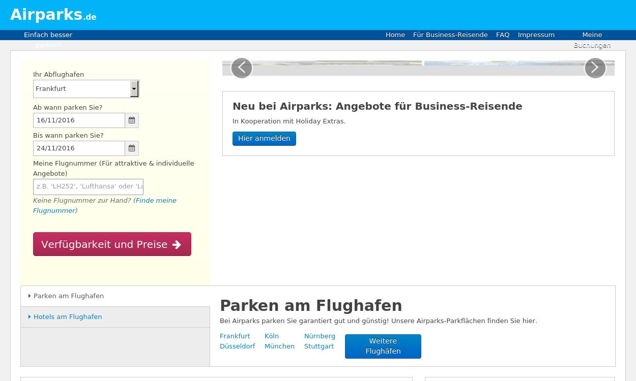 Airparks.de - Einfach besser Parken!