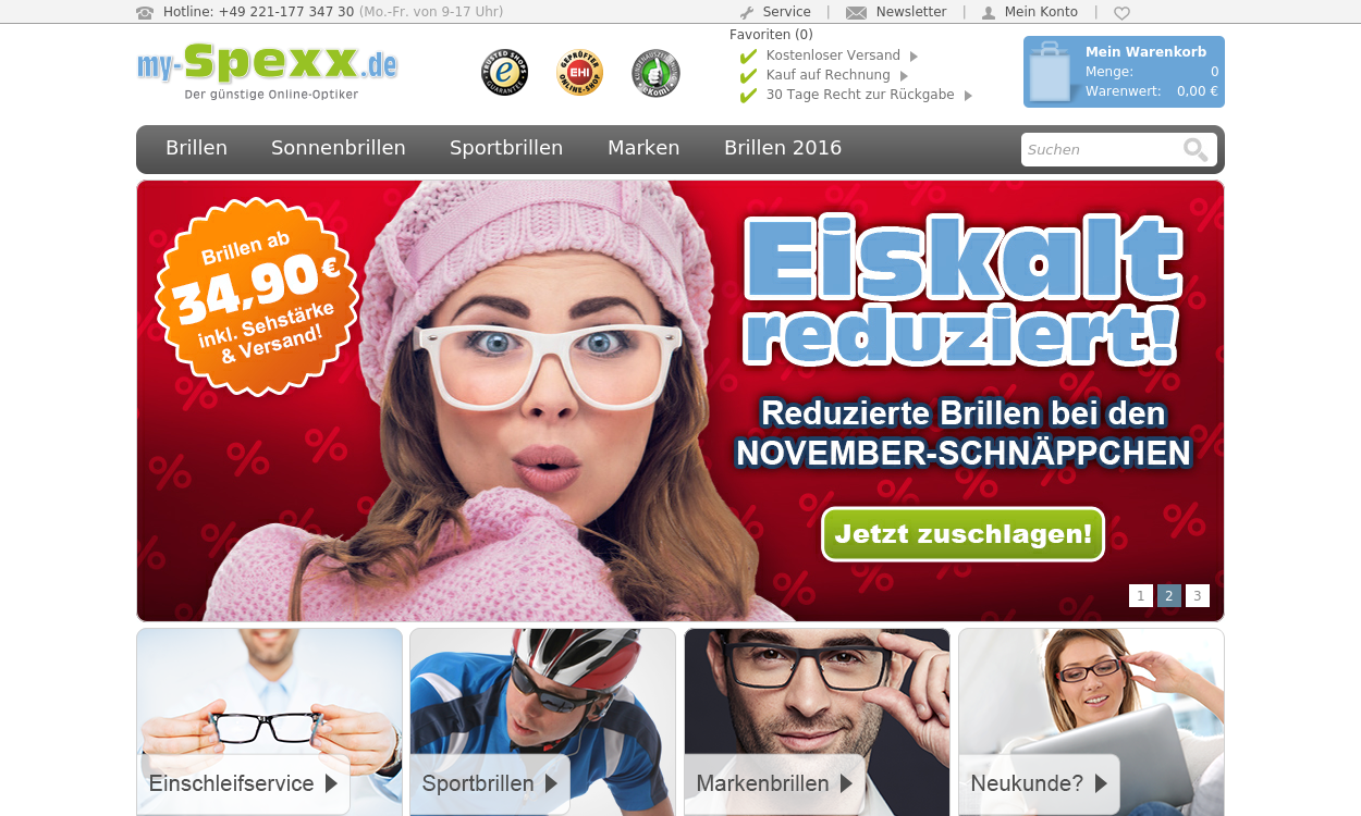 my-Spexx der günstige Online-Optiker