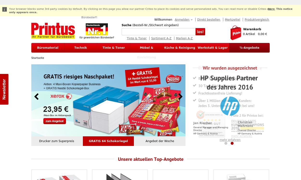 Printus.de - Bürobedarf und Büroartikel