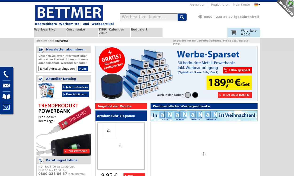BETTMER - Bedruckbare Werbemittel & Werbeartikel
