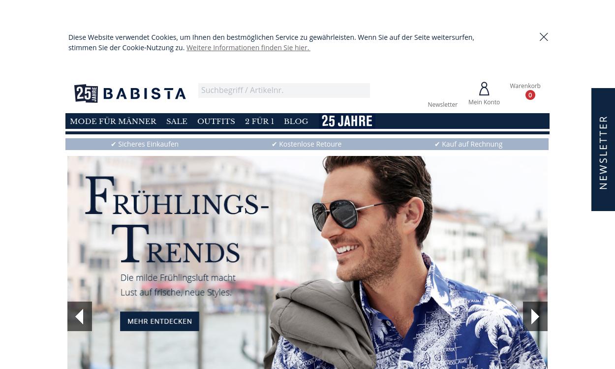 Babista.de - Männermode in Bestform