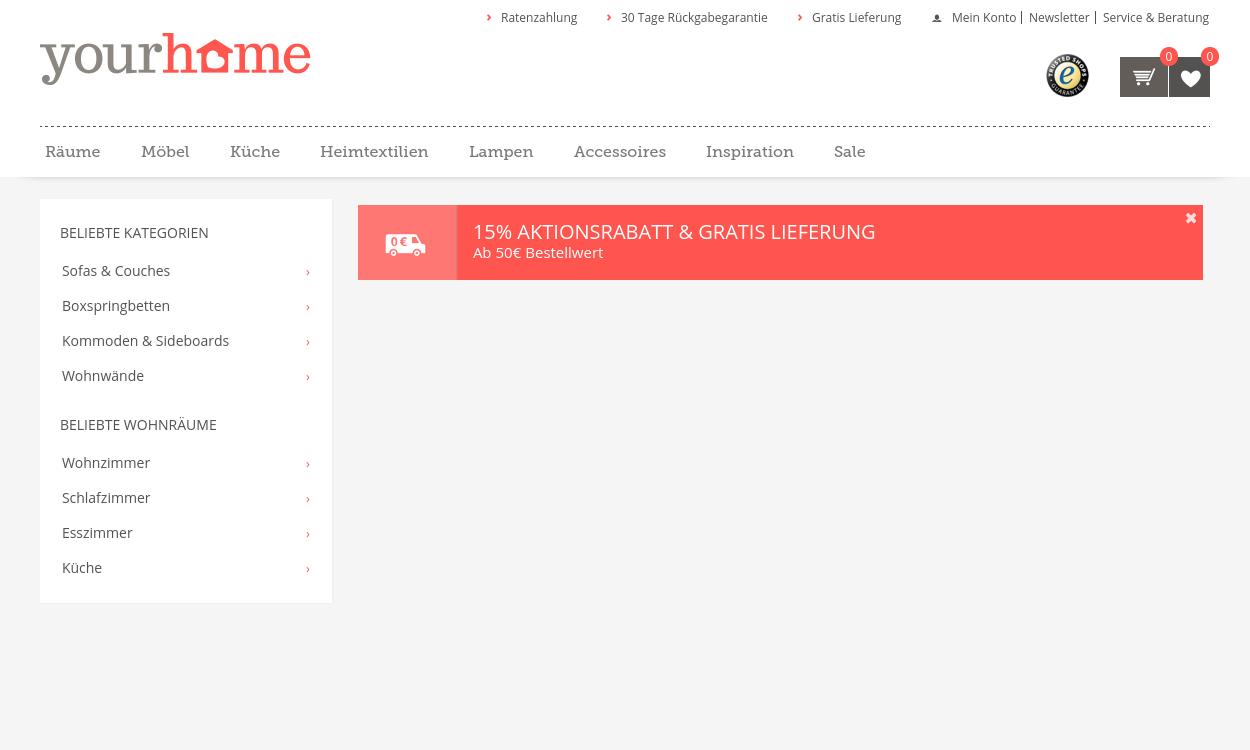 Yourhome: Der neue Onlineshop rund ums Einrichten