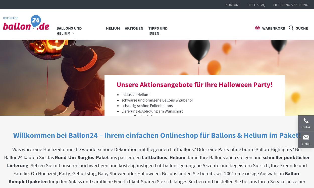 Shop für Ballons & Helium, Hochzeits- & Partytipps