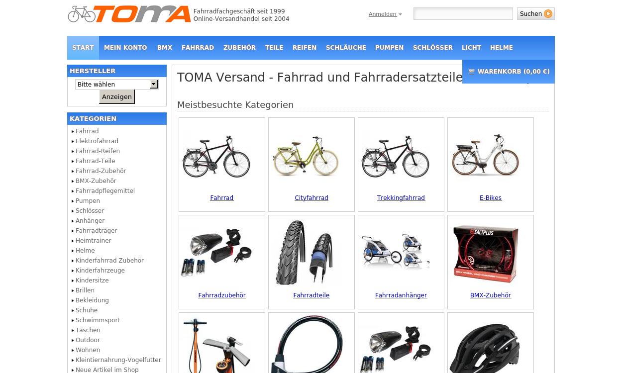 Toma-Versand - Ihr Rad- und Triathlon Fachhändler