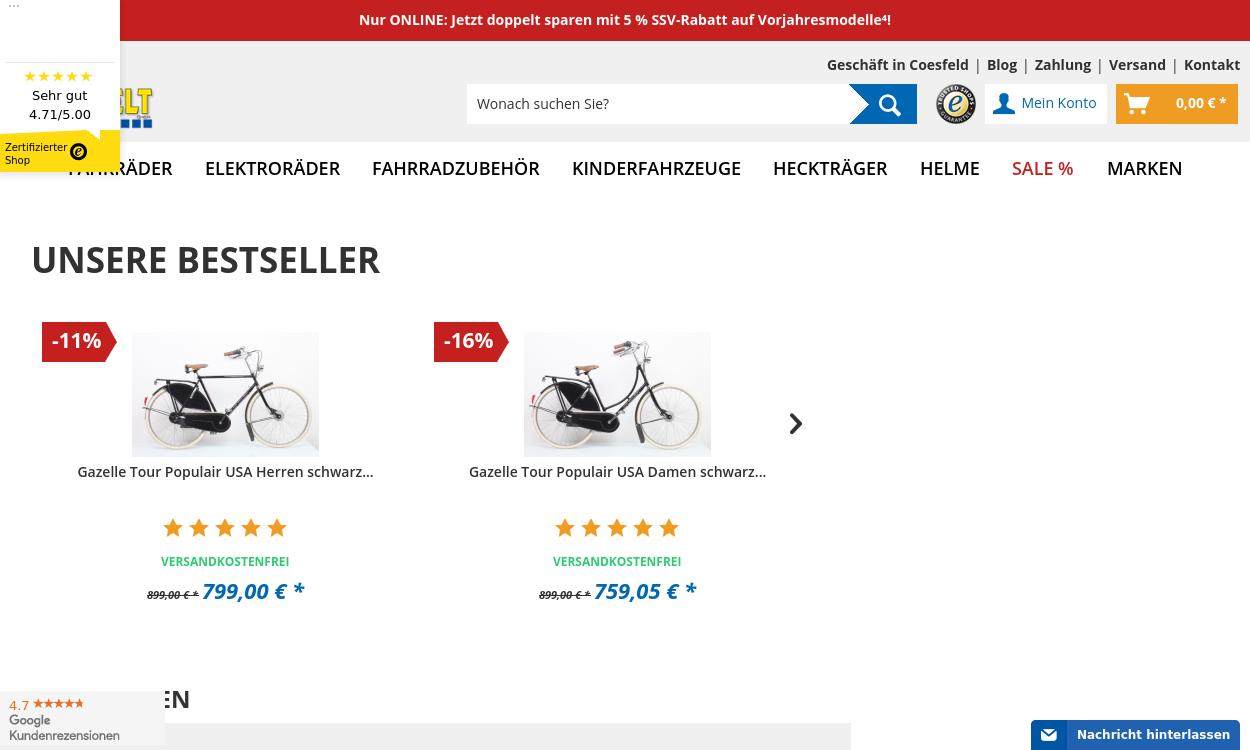 Radwelt-shop: Fahrrad für jede Herausforderung