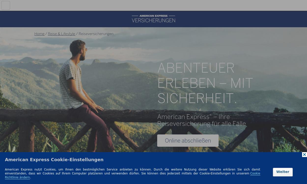 AMEX Reiseversicherung DE