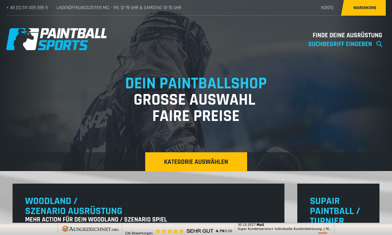 Paintball Onlineshop - migrated