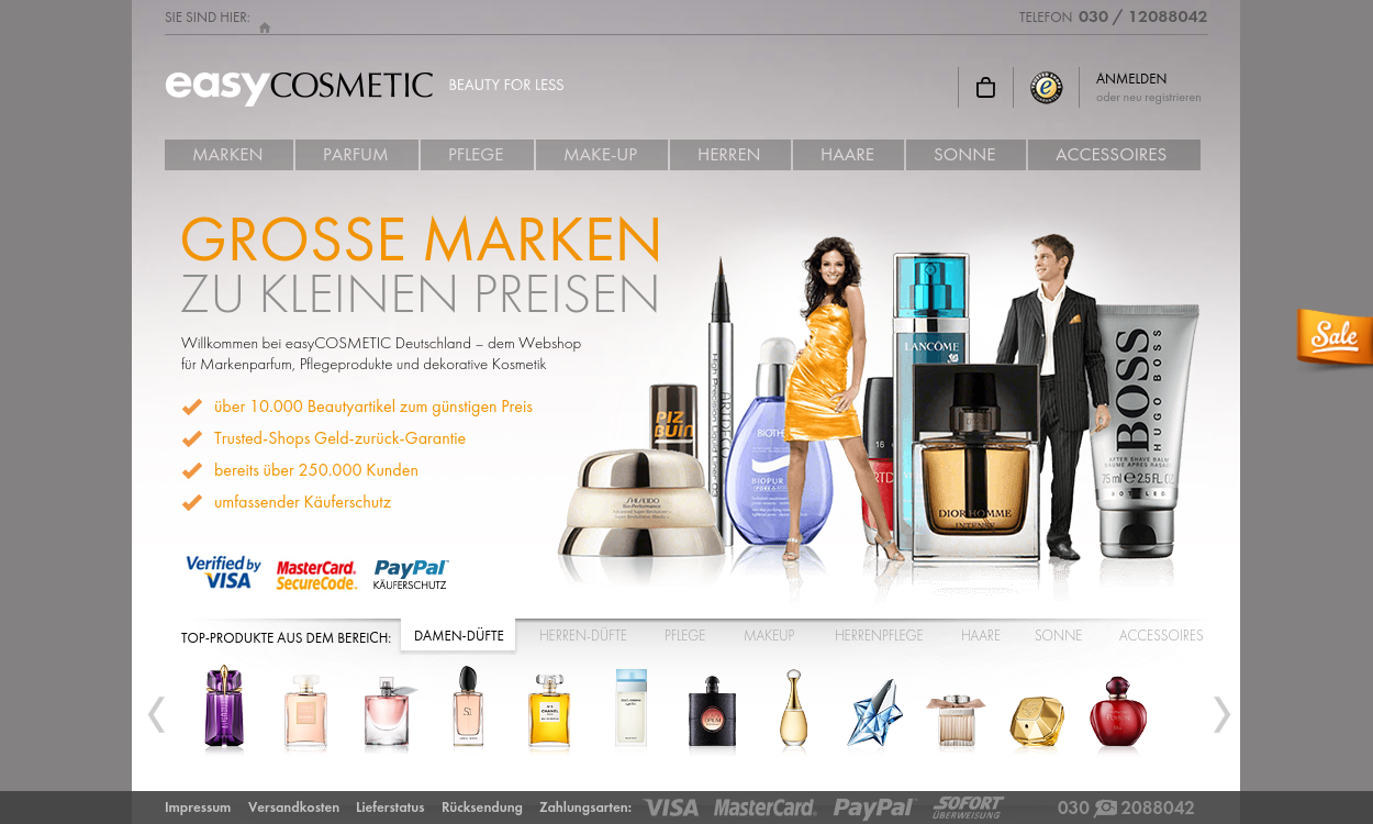 easyCOSMETIC – Das Parfum-Outlet im Internet