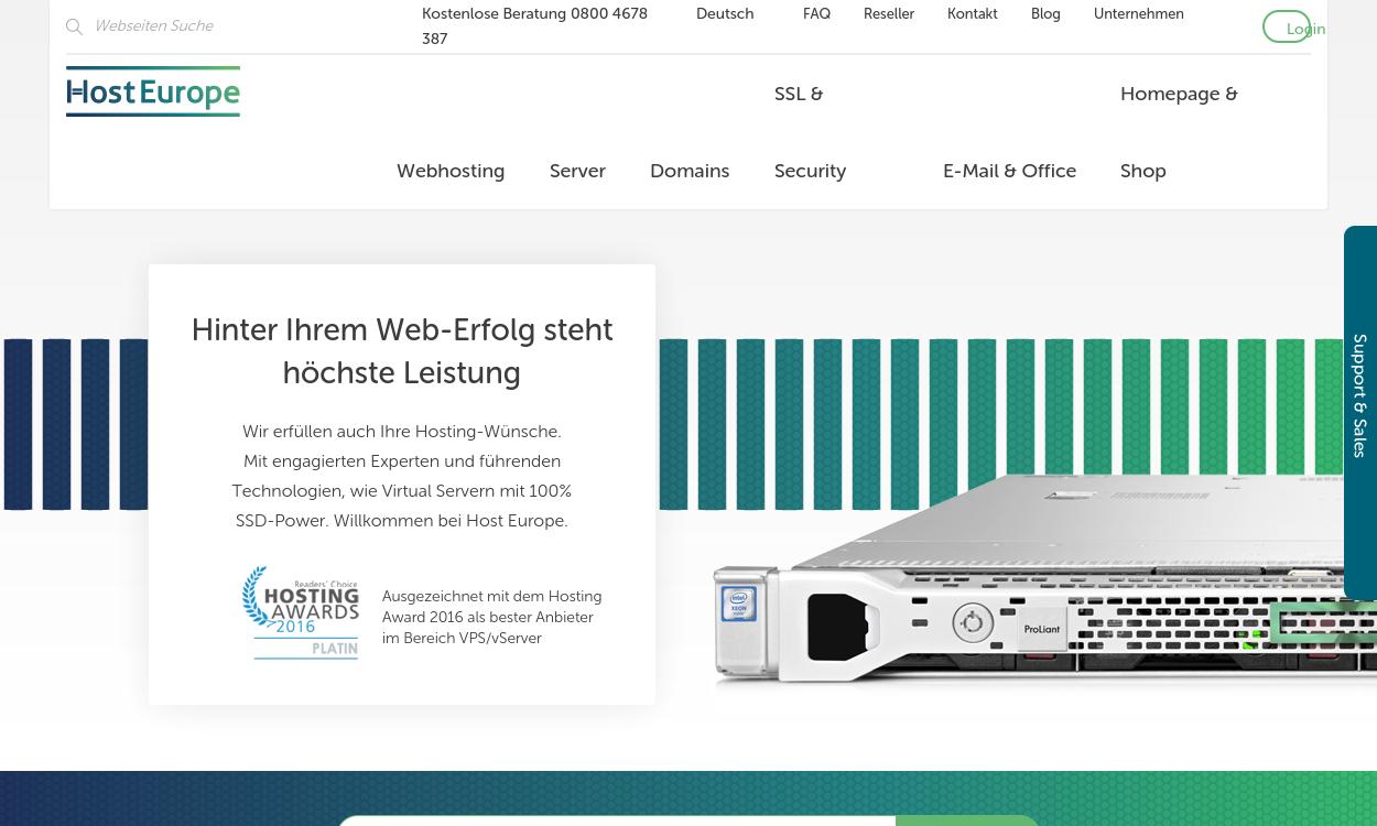 Host Europe - World Class Internet Services