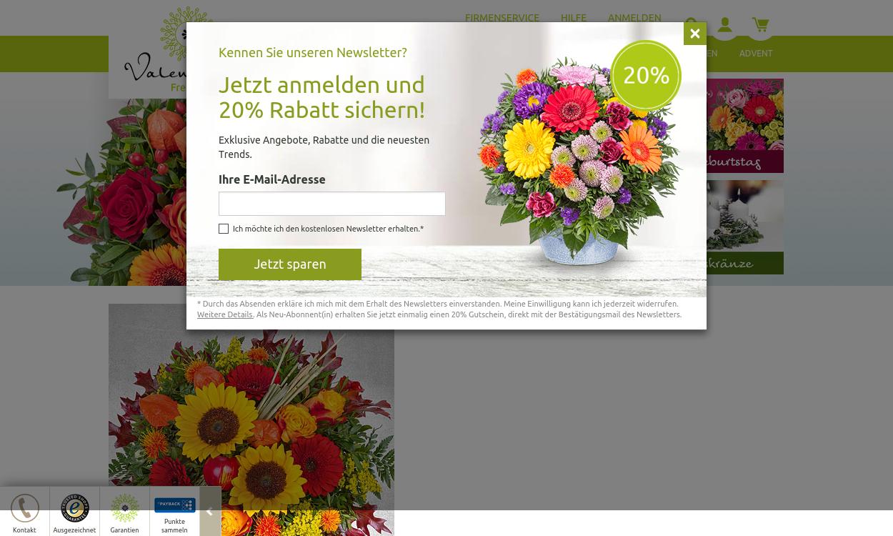 Valentins - Blumen und Geschenke - migrated