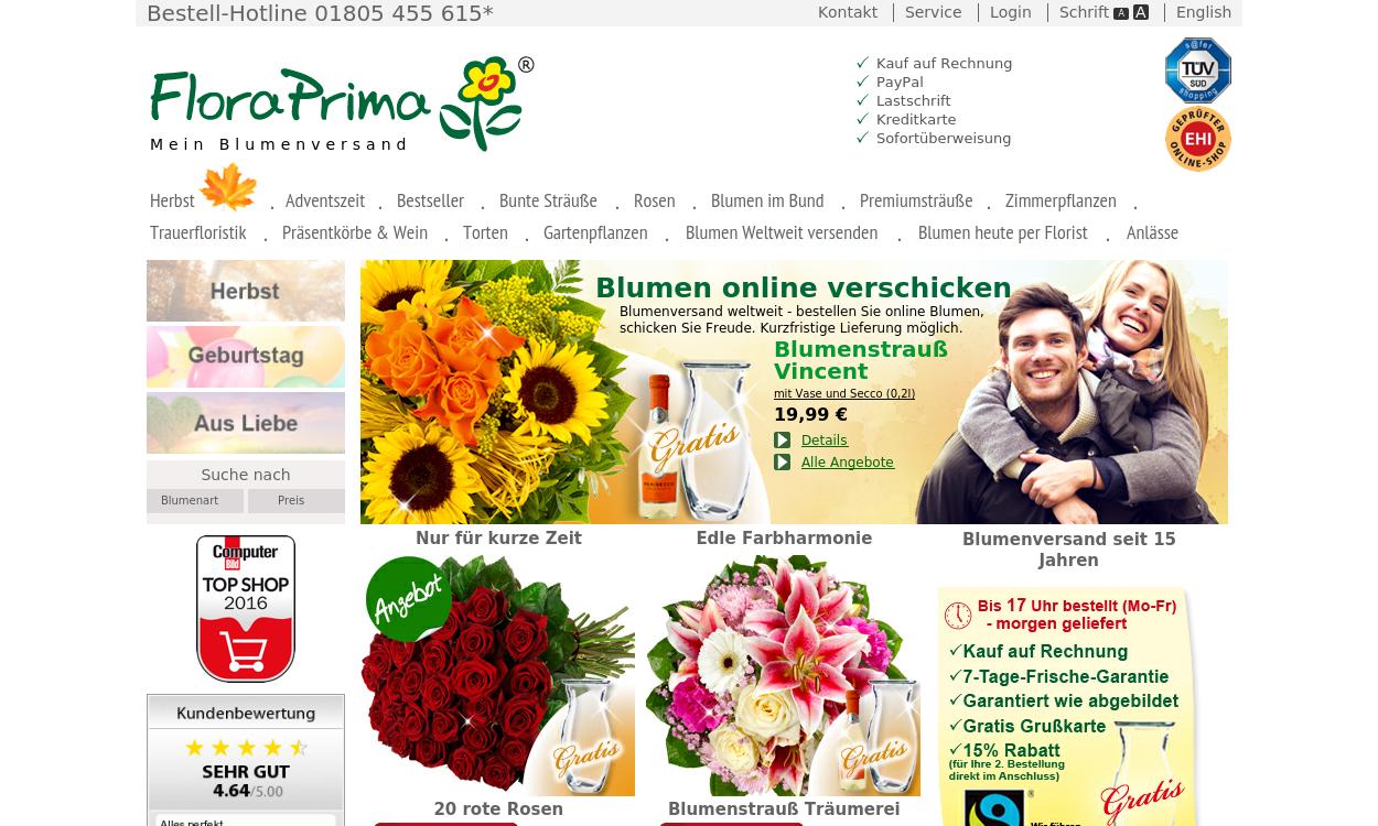 FloraPrima Ihr Blumenversand