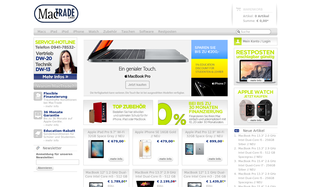 MacTrade - Apple Store - migrated to Awin