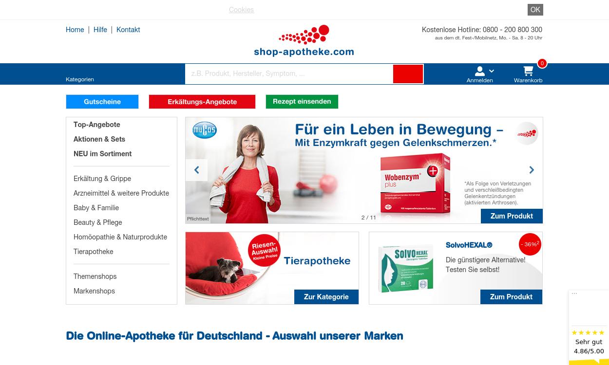 SHOP APOTHEKE –Die Online-Apotheke für Deutschland