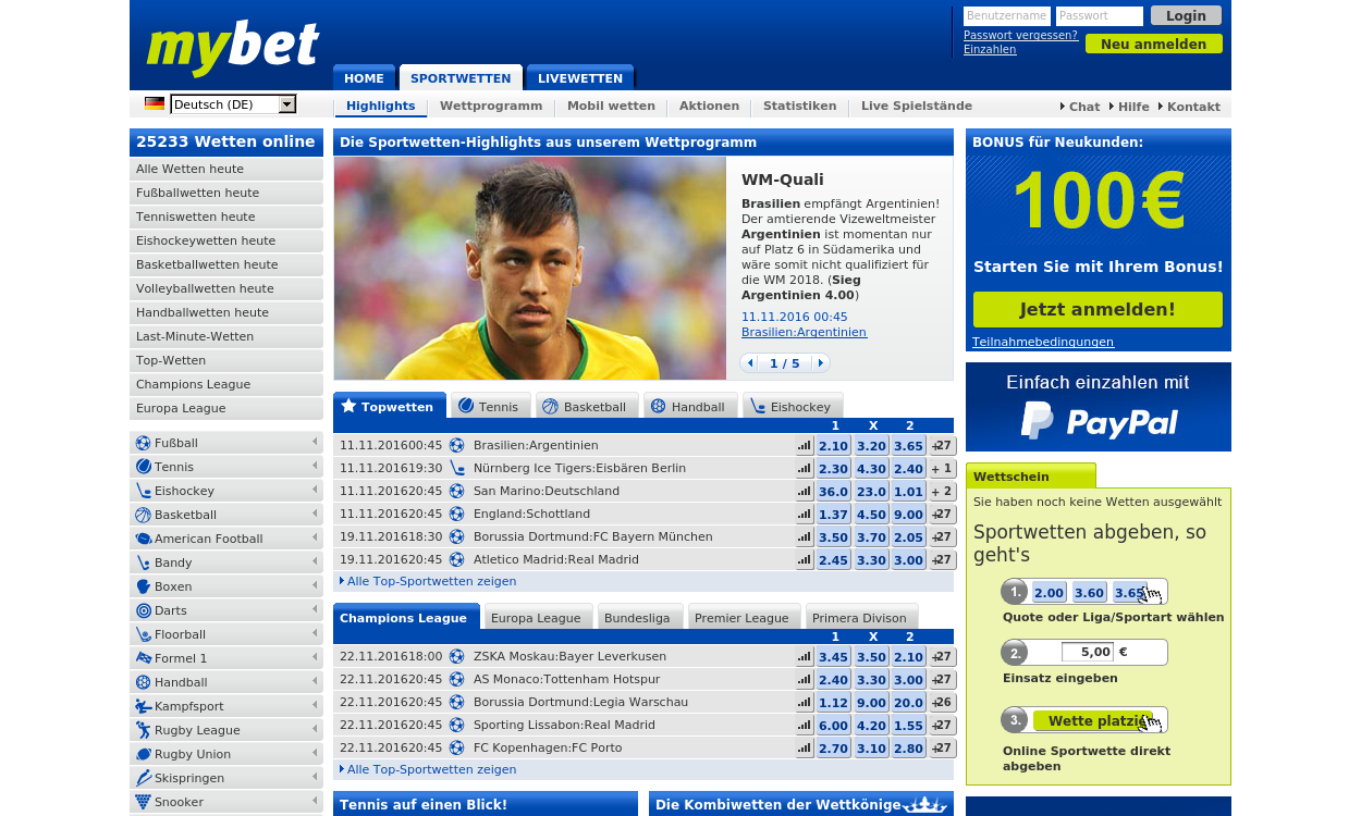myBet.de - Sportwetten